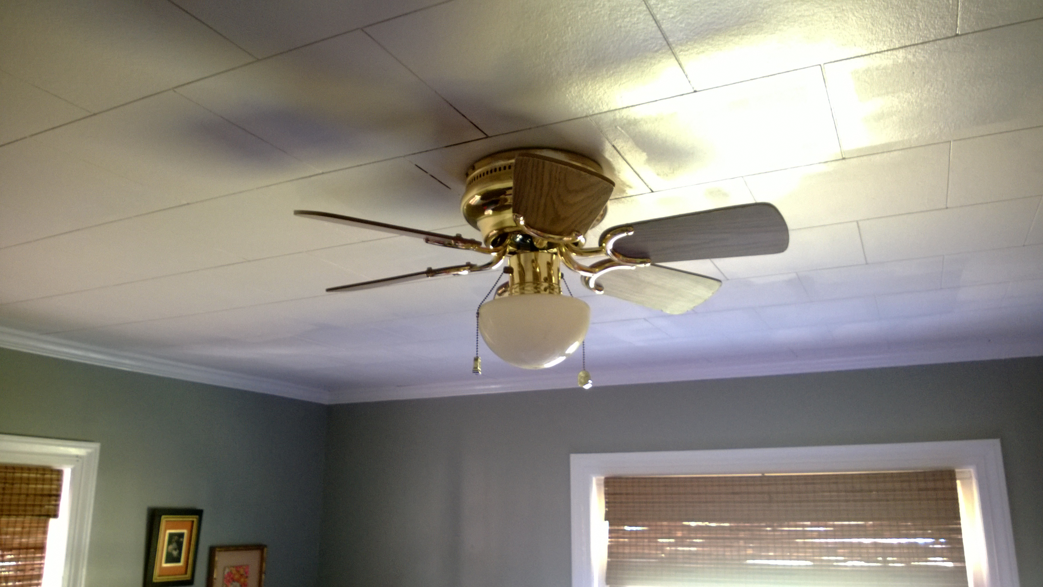 1970s Ceiling Fan : Before after s brass ceiling fan an alluring